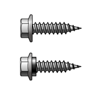 8Gx15 Hex Head Metal Stitching Screw 410 Stainless Steel without Seal