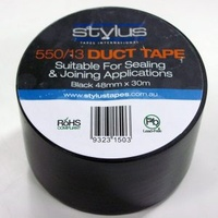 550/13 Seal/Join Duct Tape Black 48mmx30mtr