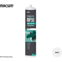Tradesman MF50 Roof & Gutter Silicone Sealant White 300ml Cartridge