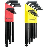 Bondhus Hex Key Set 2 Pack Metric & Imperial Ball Point