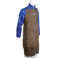 LEATHER WELDERS APRON CHARCOAL BROWN 90X58CM - AP6100L