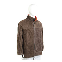 LEATHER WELDERS JACKET CHARCOAL BROWN 5XL - AP51305XL