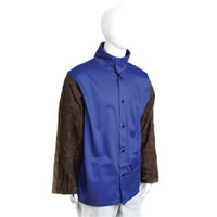 PROBAN JACKET LEATHER SLEEVES BLUE/BROWN 6XL - AP25306XL