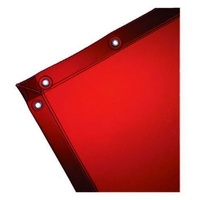 Welding Curtain without Frame 1.8 X 2.7mtr Red With Eyelets To Australian Standards - AP1827RS