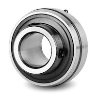 UC206-18 Premium Wide Inner Ring Bearing Spherical OD With Grub Screw (1-1/8 Inch)
