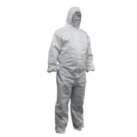 White Polypropylene Disposable Coveralls - 3Xlarge