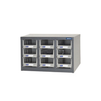 ITM Parts Cabinet, Metal A6 9 Drawers 533W X 265D X 310H