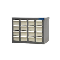 ITM Parts Cabinet, Metal, A8 16 Drawers 466W X 222D X 350H